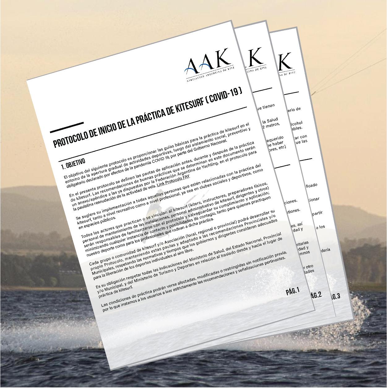 Protocolo de Inicio de la práctica de kitesurf AAK (COVID-19)